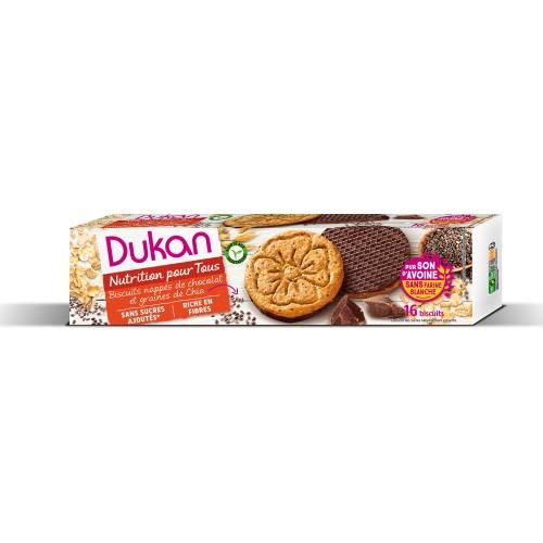 Μπισκότα Βρώμης με επικάλυψη Σοκολάτας & Σπόρους Chia Dukan 160g