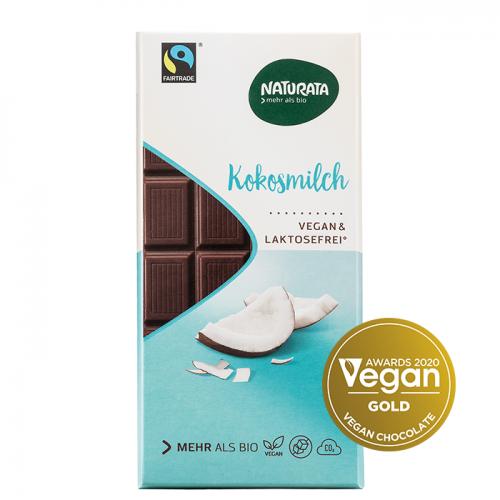 Vegan Σοκολάτα με Γάλα Καρυδάς Naturata 100g ΒΙΟ